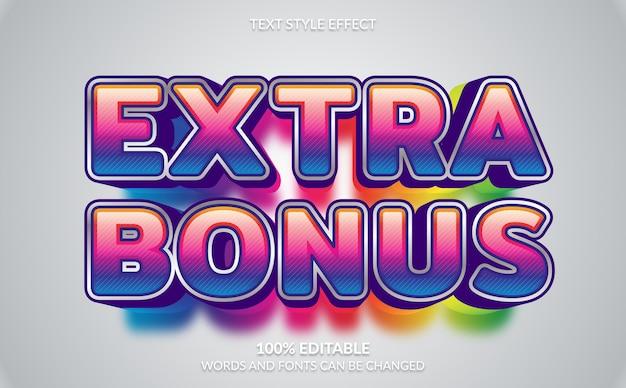Editable text effect, extra bonus text style Premium Vector
