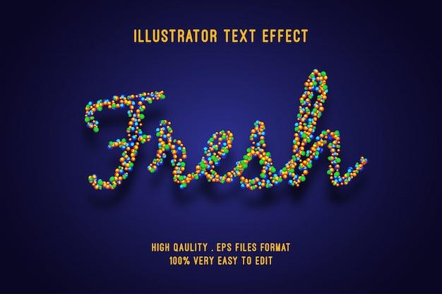 Editable text effect - fresh spark bubble style Premium Vector