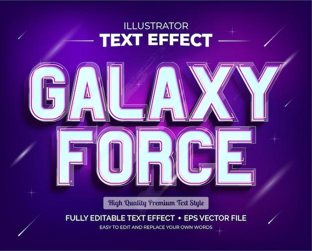 Редактируемый текстовый эффект - текстовый эффект galaxy force Premium векторы