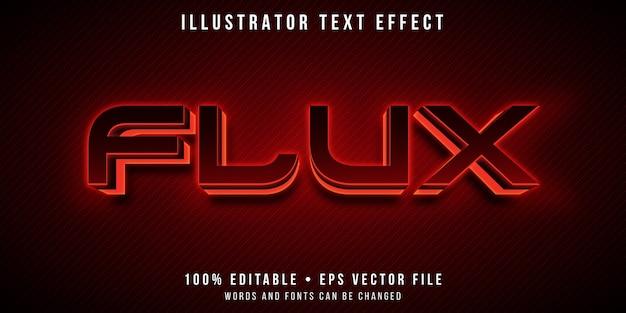 Редактируемый текстовый эффект - светящийся красный светодиод Premium векторы