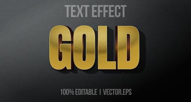 編集可能なテキスト効果-ゴールドゲームのロゴのグラフィックスタイルプレミアムベクトル Premiumベクター