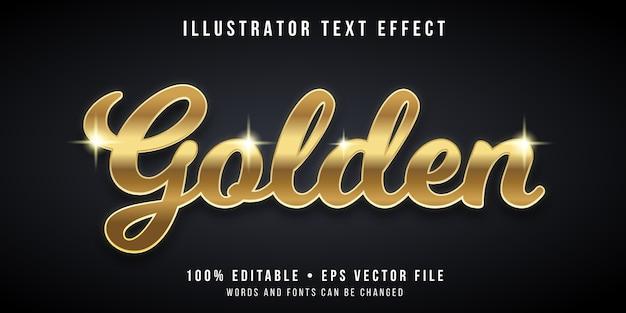 Editable text effect - gold style Premium Vector
