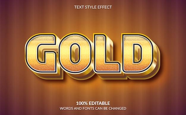 Редактируемый текстовый эффект, золотой текстовый стиль Premium векторы