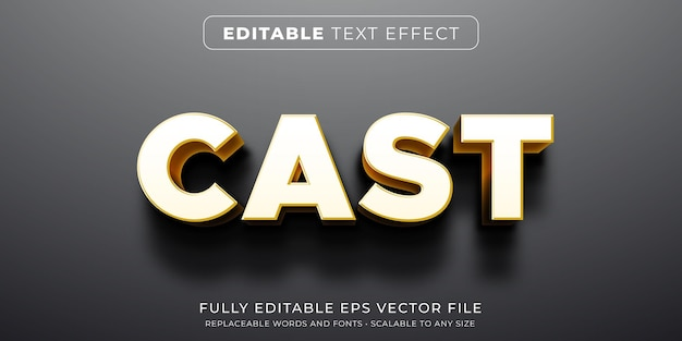 Editable text effect in heavy shadow cast style Premium Vector