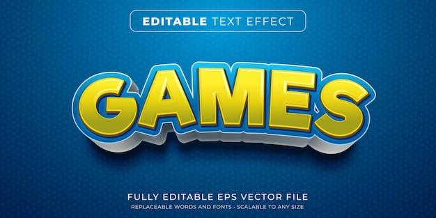 만화 게임 제목 스타일의 편집 가능한 텍스트 효과 프리미엄 벡터