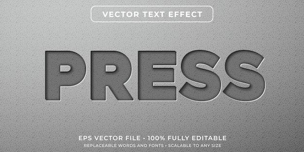 포함 된 문자 스타일의 편집 가능한 텍스트 효과 프리미엄 벡터