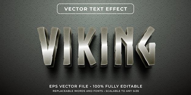 금속성 오래된 문자 스타일의 편집 가능한 텍스트 효과 프리미엄 벡터