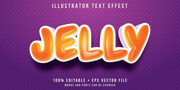 Editable text effect - jelly bean style Premium Vector