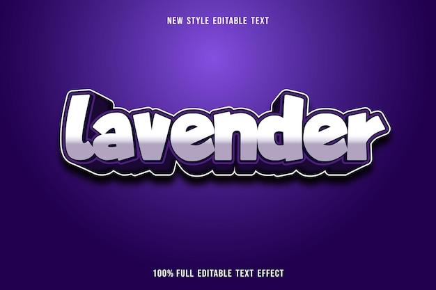 Редактируемый текстовый эффект лавандового цвета белый и фиолетовый Premium векторы