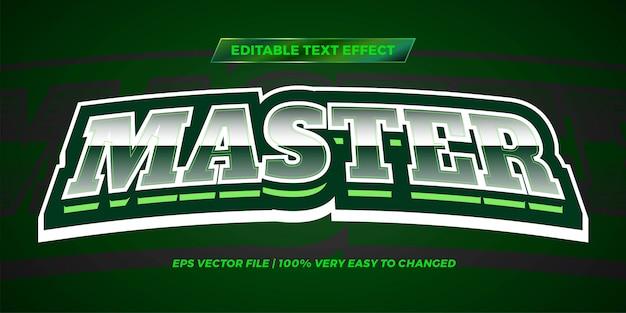 Редактируемый текстовый эффект - мастер стиля текста зеленого цвета Premium векторы