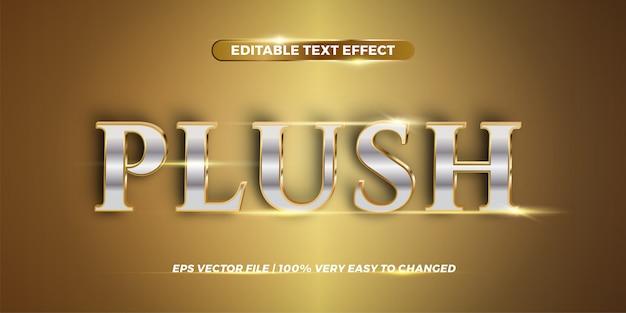 Редактируемый текстовый эффект - плюшевая концепция стиля слова Premium векторы