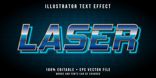 Редактируемый текстовый эффект - неоновый свет в стиле ретро Premium векторы
