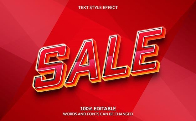 편집 가능한 텍스트 효과 판매 텍스트 스타일 프리미엄 벡터