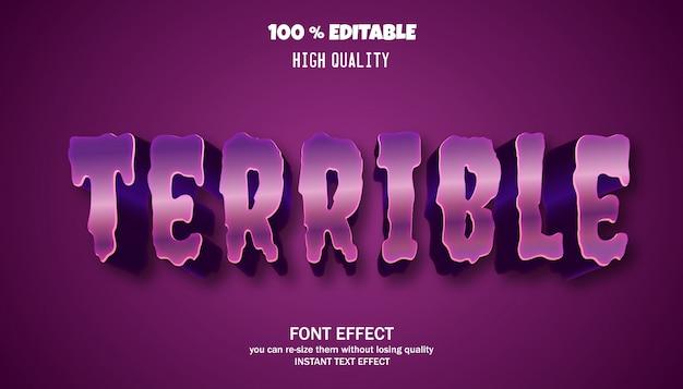 편집 가능한 텍스트 효과, 강력한 대담한 현대 글꼴 효과 프리미엄 벡터