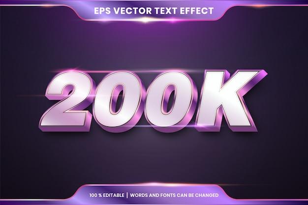 Редактируемый стиль текста, серебристый и фиолетовый цвета Premium векторы