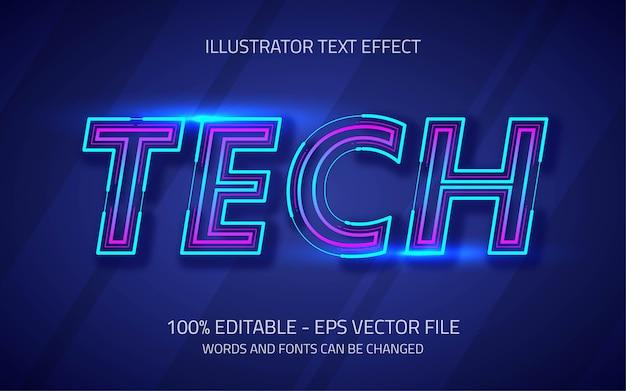 Hiệu ứng văn bản có thể chỉnh sửa, phong cách công nghệ Vector cao cấp