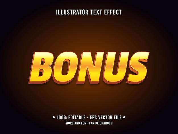 Editable text effect template golden bonus prize style Premium Vector