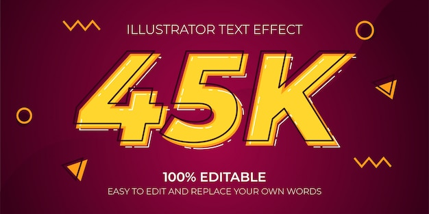 Editable text effects - 45k text effects Premium Vector