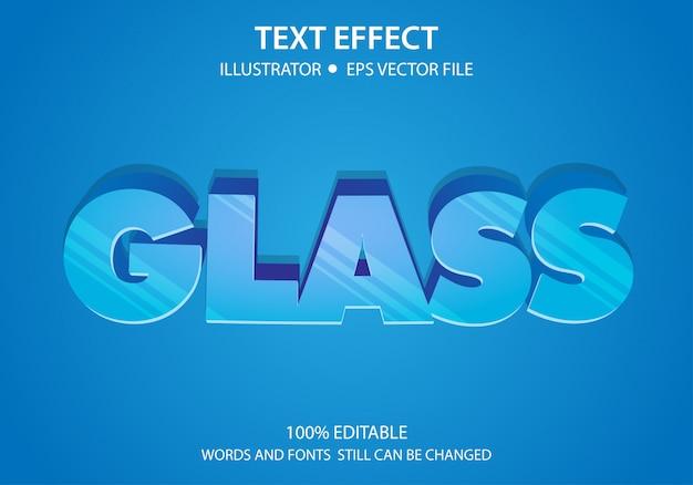 編集可能なテキストスタイル効果ガラス Premiumベクター