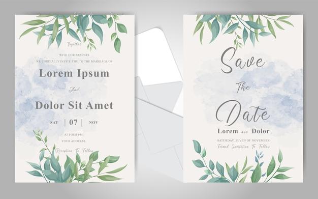 editable wedding invitation card set template with elegant
