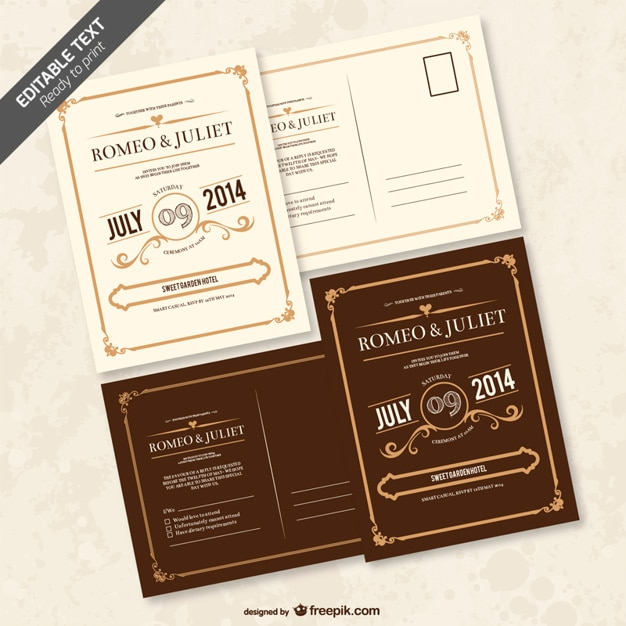 Editable wedding invitation vector free download editable wedding invitation free vector stopboris Image collections