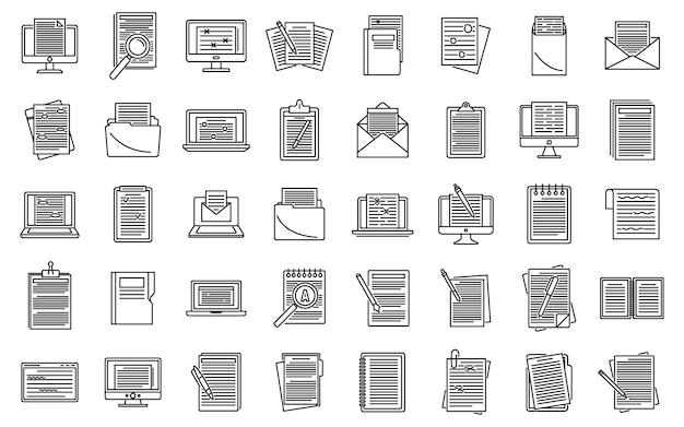 Набор значков редактора контента Premium векторы