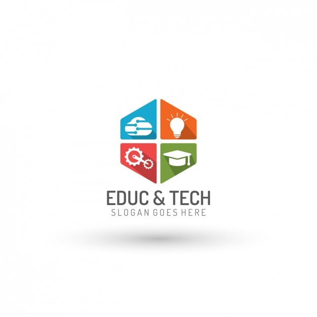 education and technology logo template vector free download