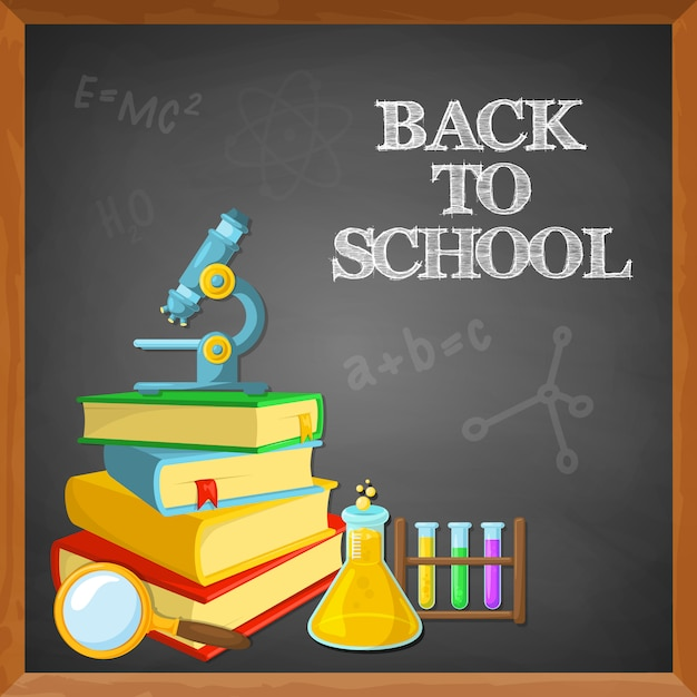 Education background design Free Vector