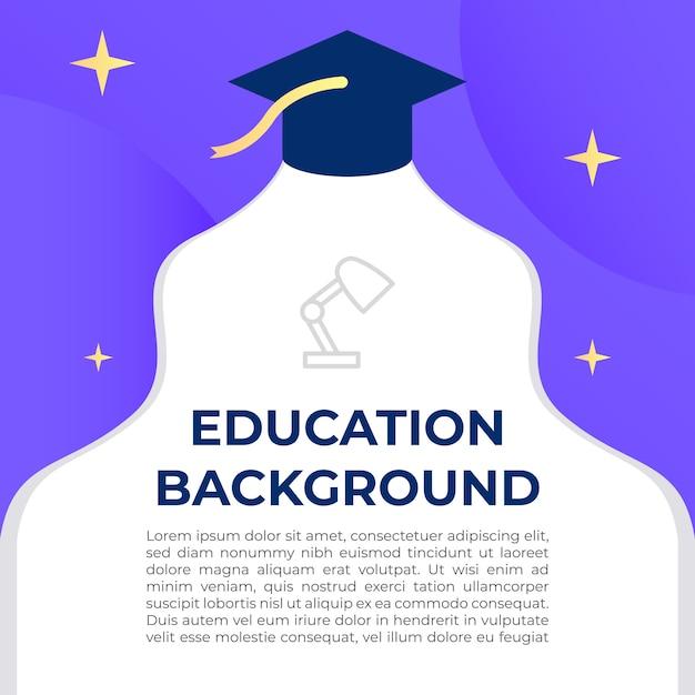 Education background illustration Premium Vector