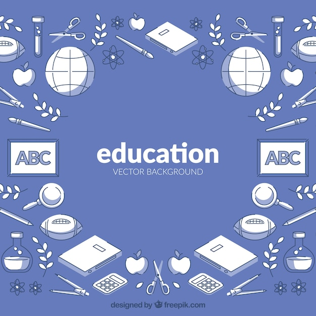 Education background in flat style