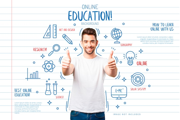 Education background with funny icons Free Vector
