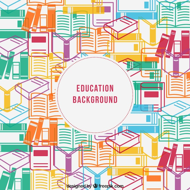 Education Background Vector Free Download