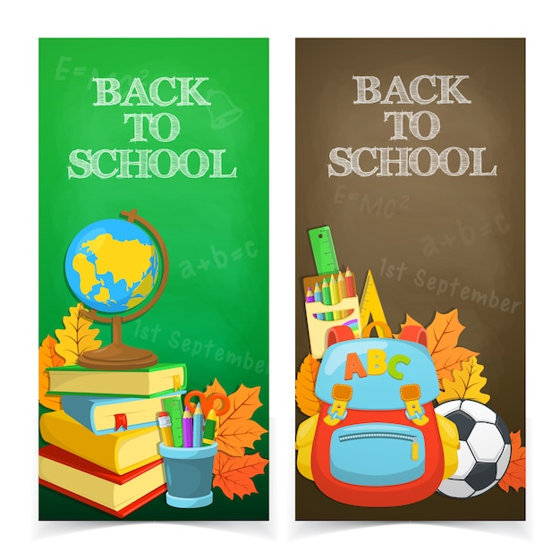 Education banners design Free Vector