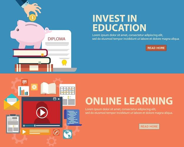 Download Vector Education Banners Set Vectorpicker
