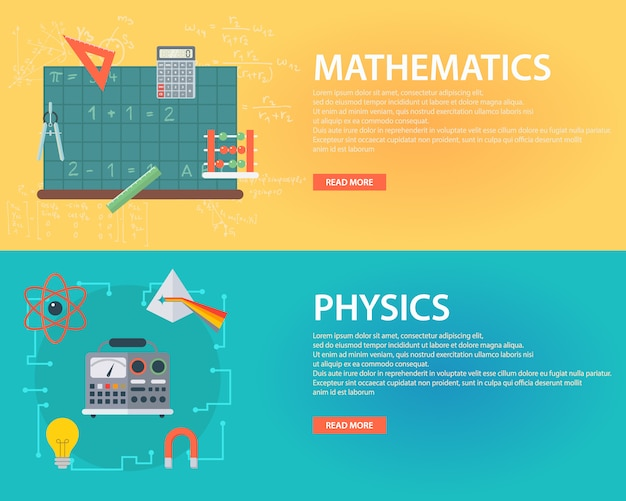 education banners set vector free download