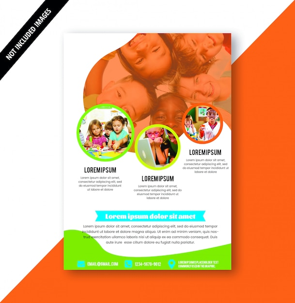 Education brochure Premium Vector