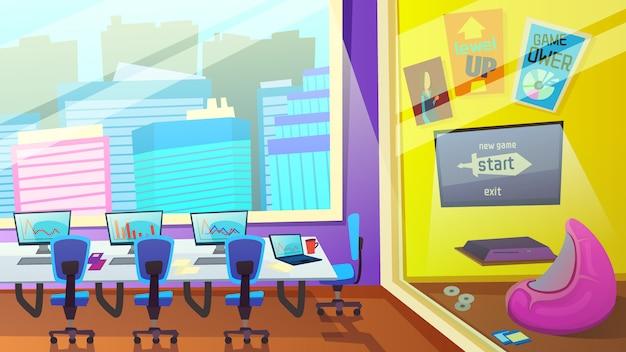 Education center interior Premium Vector