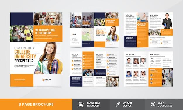 Education company brochure  template Premium Vector