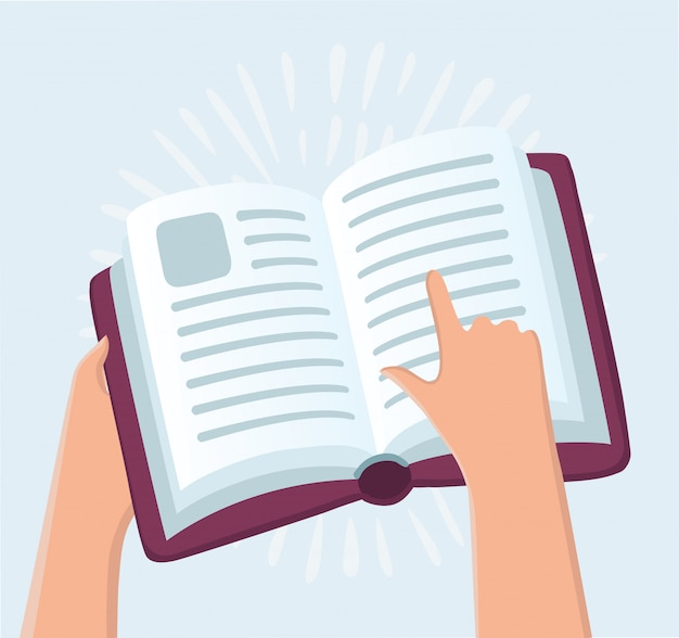 本を持っている教育概念手 Premiumベクター