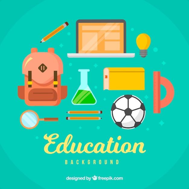 教育要素の背景 無料ベクター