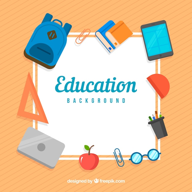 Education elements background Free Vector