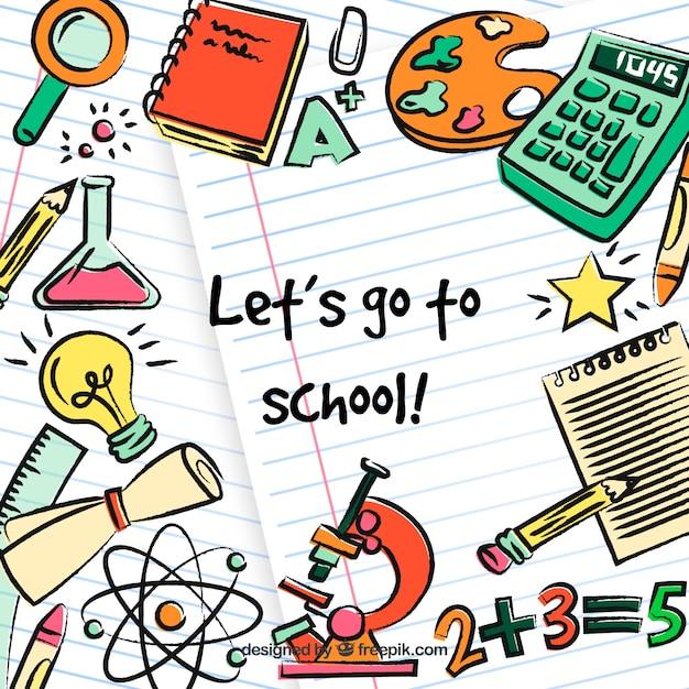 Education elements background