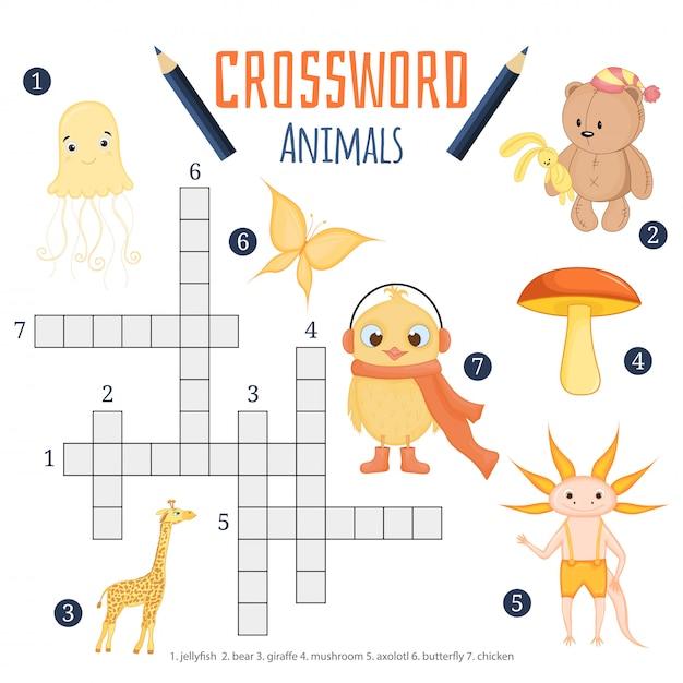 動物についての子供のための教育ゲーム Premiumベクター