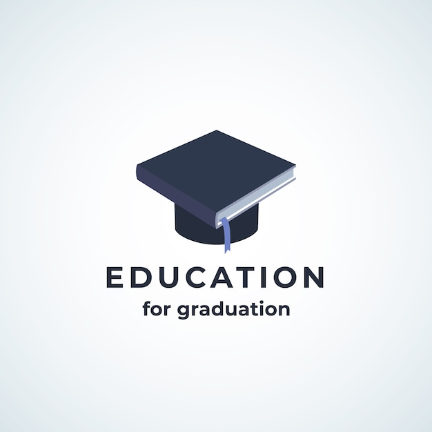 Education for graduation absrtract  icon Free Vector