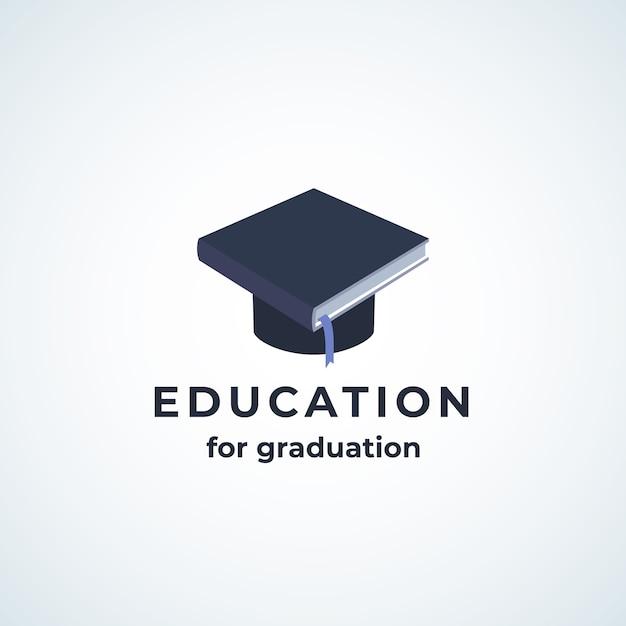 Icona di istruzione per la laurea absrtract Vettore gratuito