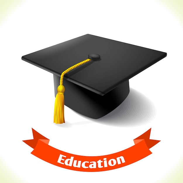 Education icon graduation hat Vector | Premium Download