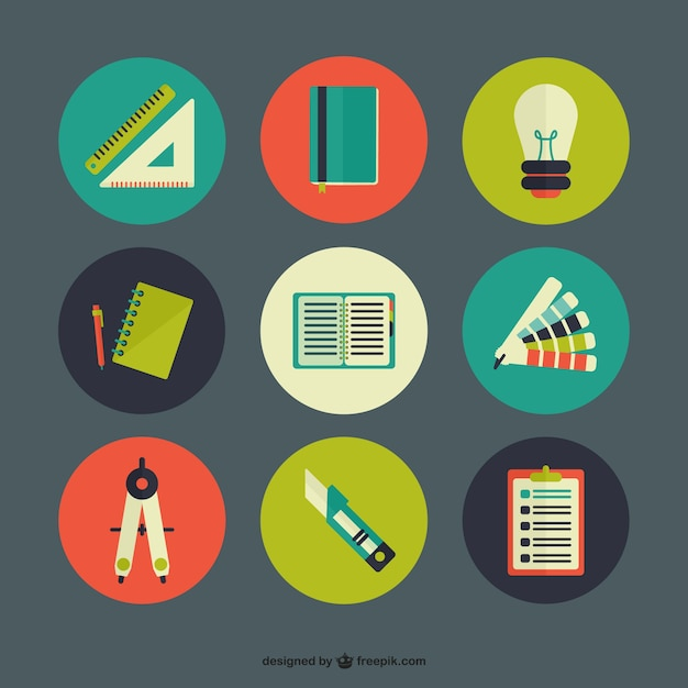 Education icon pack Vector | Free Download