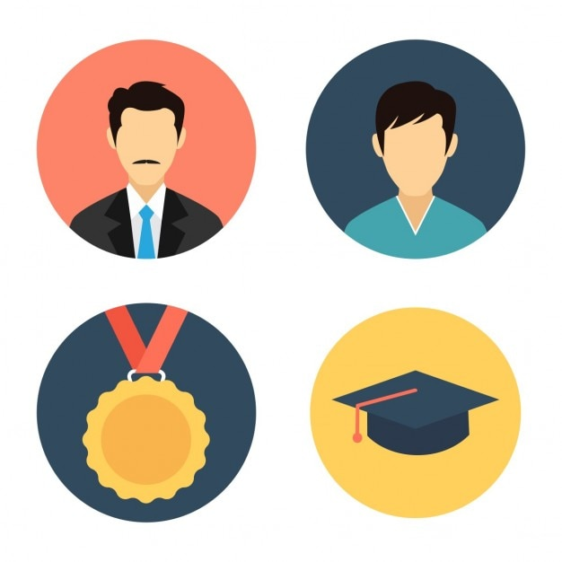 Education icon set Vector | Free Download
