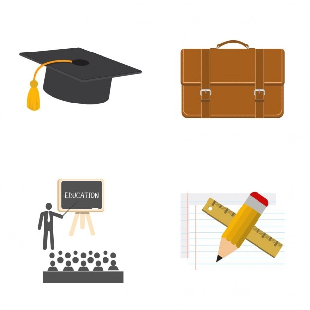 Education icons Free Vector