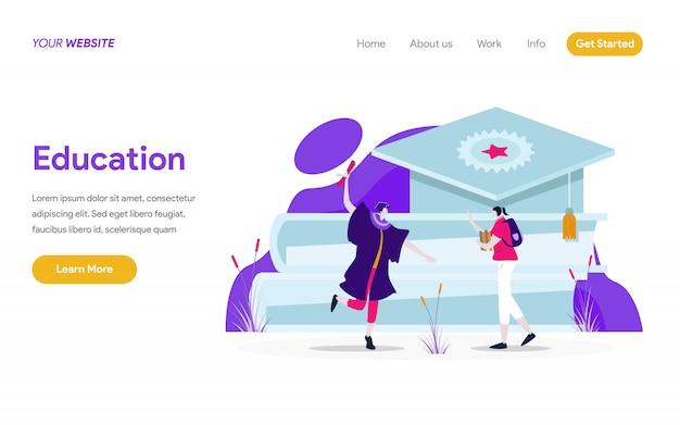 Education illustration concept Premium Vector